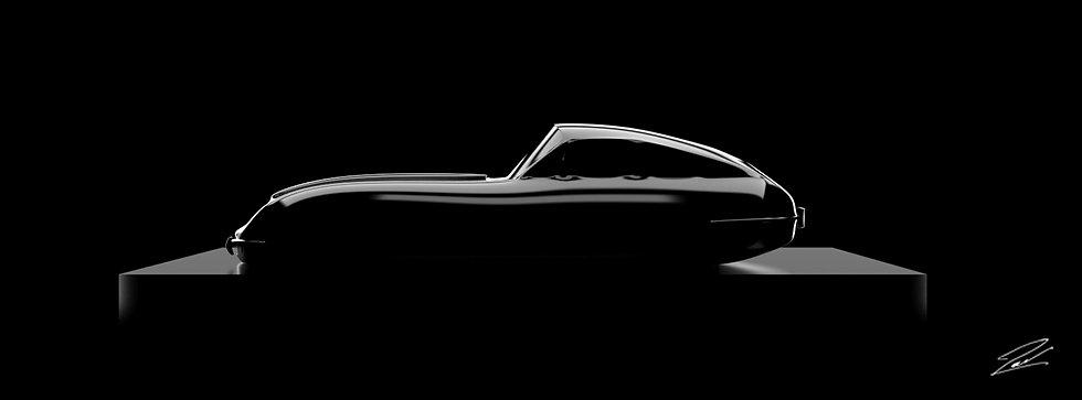 Jaguar Type E 135cmx50cm