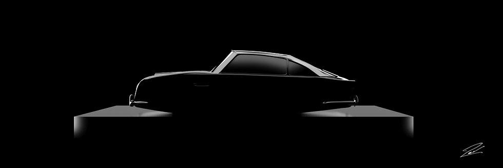 Aston Martin DB5 105cmx35cm