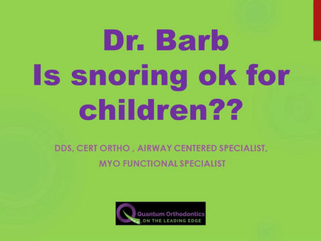 Is a child snoring at night the sign of breathing problems ?