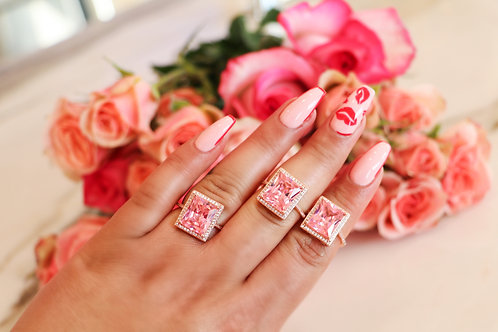 Rosé All Day Square Ring
