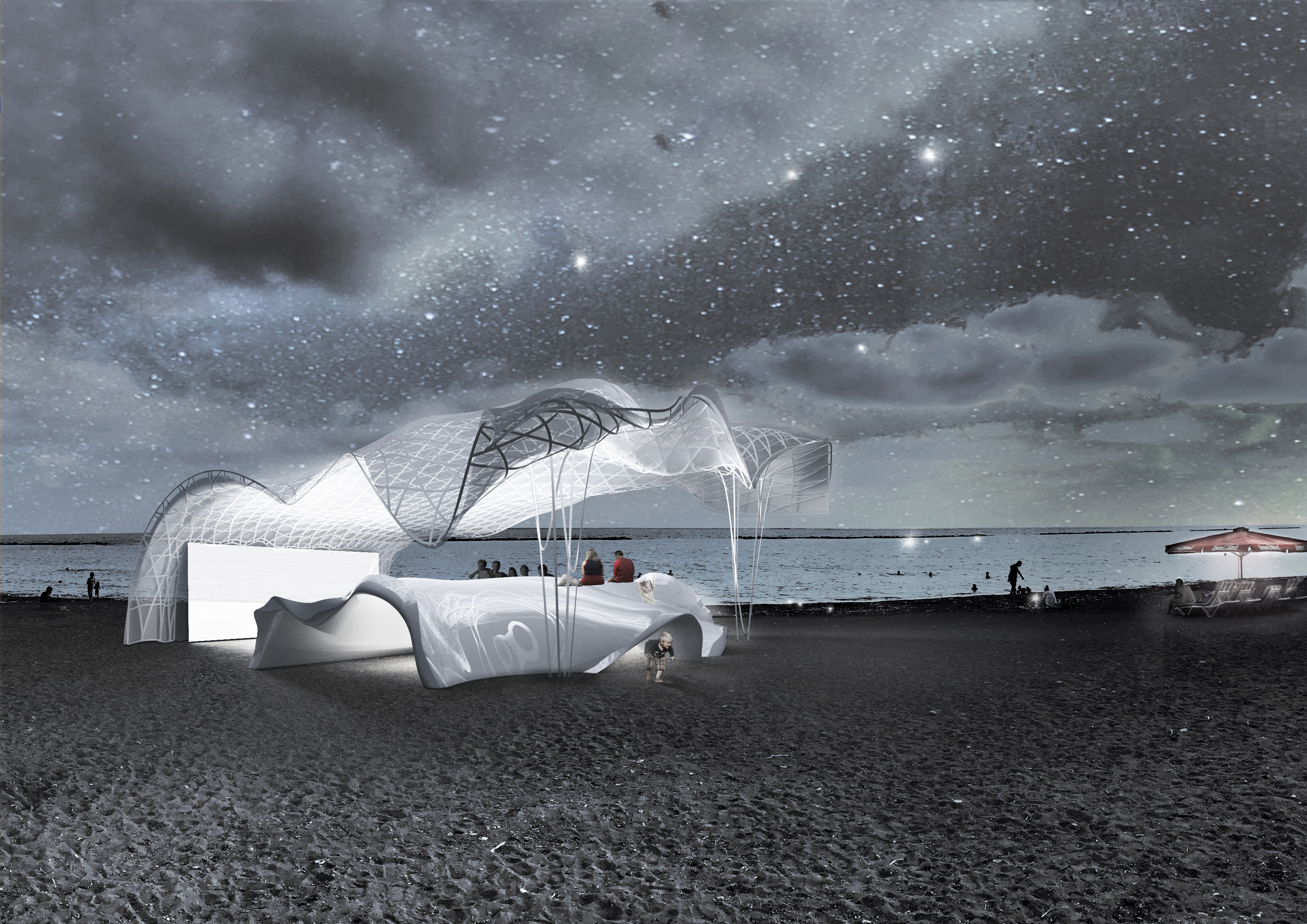 海滩影院设计