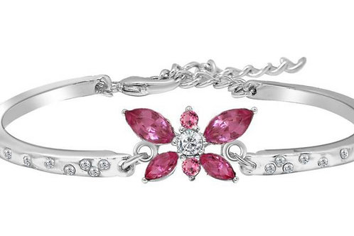 Roze zirkonia armband