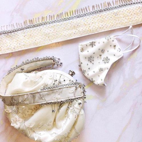Luxe purse met mondkapje en riem