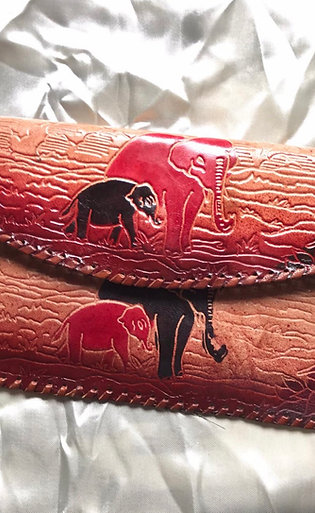 Leren handtas olifanten