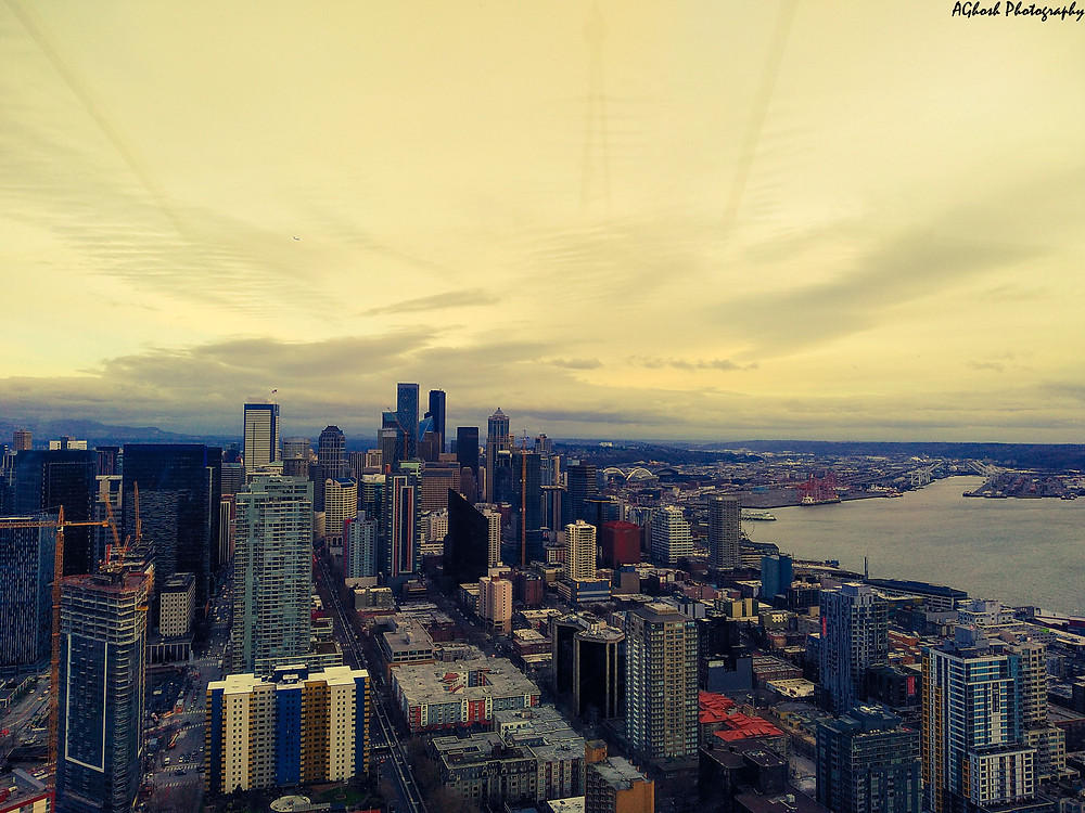 View from the top deck of Space Needle