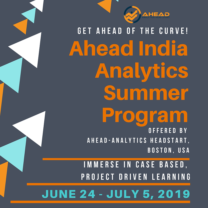 Ahead India Analytics Summer Program