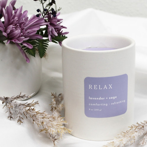 Relax Lavender + Sage Candle