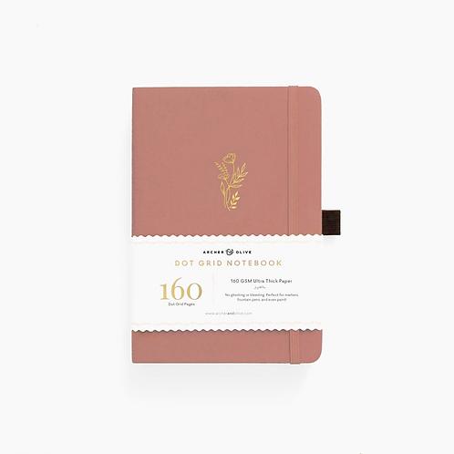 Archer & Olive Floral Sunset Dot Grid Notebook