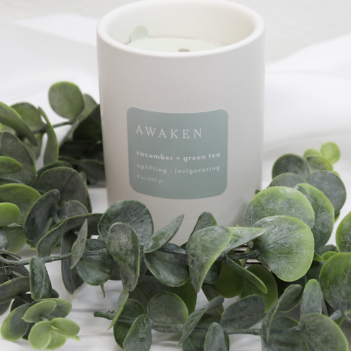 Awaken Cucumber + Green Tea Candle
