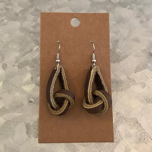 Brown Knot Earrings