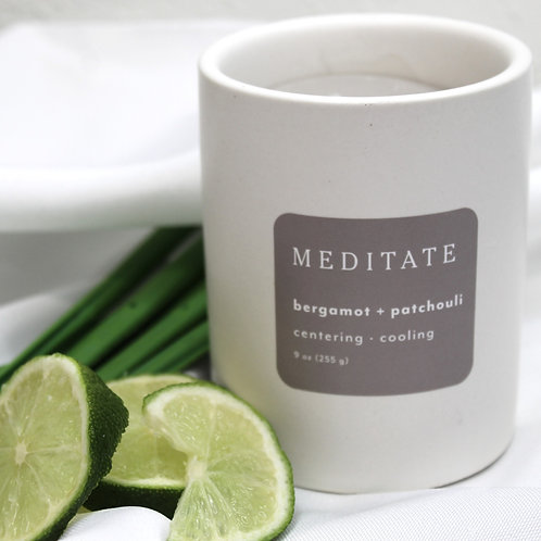 Meditate Bergamot + Patchouli Candle