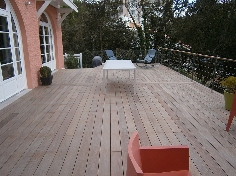 Terrasse bois la baule gu rande saint nazaire paysagiste - Paysagiste saint nazaire ...