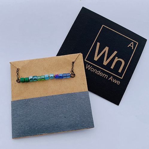 green+blue palette bar necklace