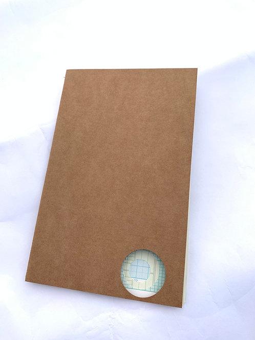 Vintage Graph Paper Keeper Insert