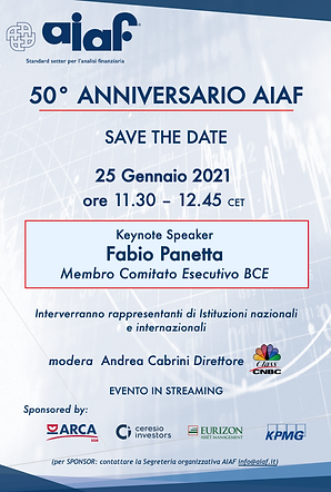 save the date - AIAF - 25 gennaio 2021 .