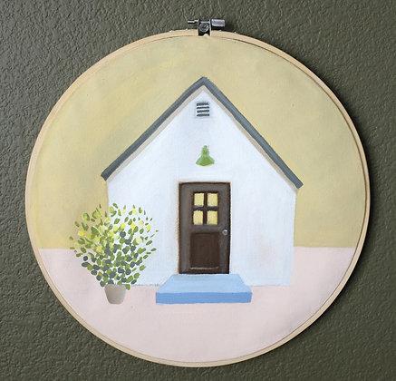 Little House Acrylic Painting