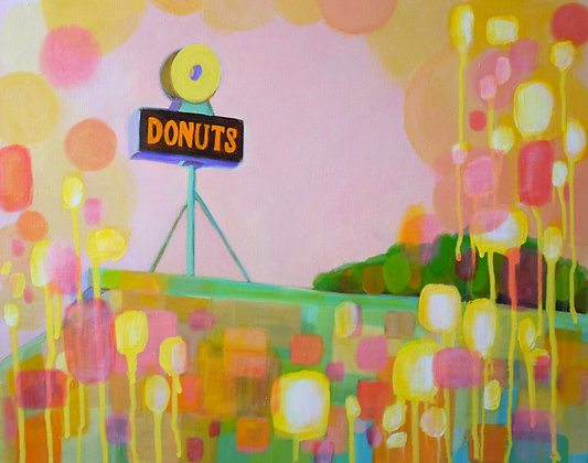 Donut Shop Acrylic Painting