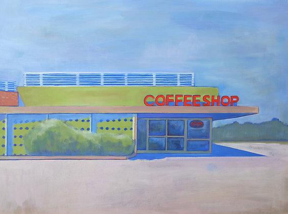 Coffee Shop Acrylic Painting