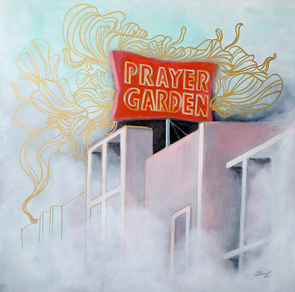 Prayer Garden Acrylic Painting