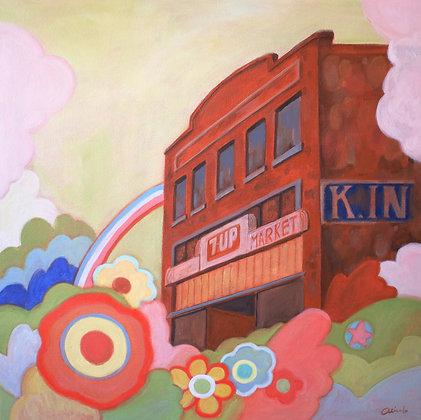 Nishioka Market Acrylic Painting