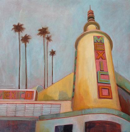 San Jose Mexico Theater Acrylic Painting