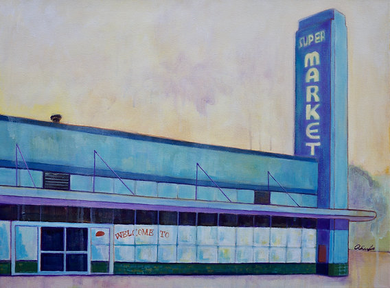Dick's Supermarket Acrylic Painting
