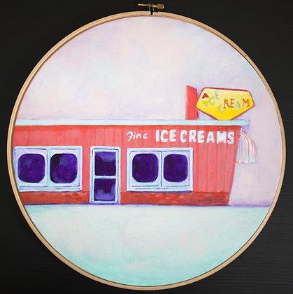 Santa Cruz Ice-cream Shop Acrylic Painting