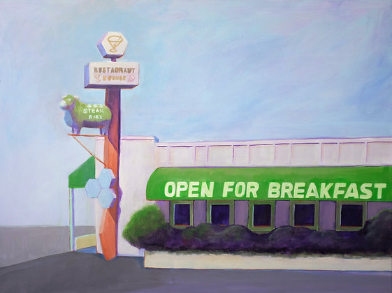 Open for Breakfast Acrylic Painting