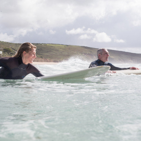 Surfing Cornwall