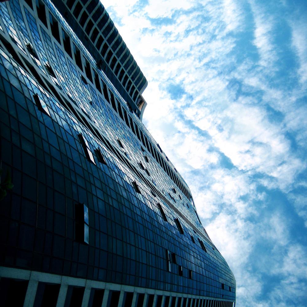 rascacielos de la oficina