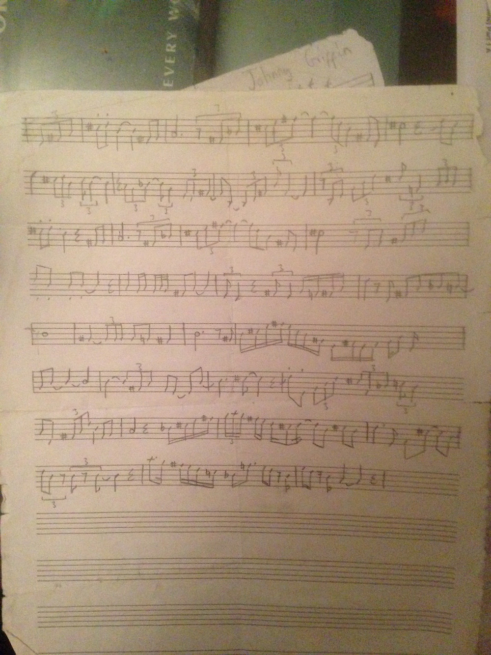 My transcription of Lester Young on 'I Can't Get Started'.