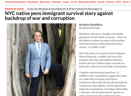 NYC native pens immigrant survival story against backdrop of war and corruption