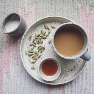 Cardamom Infused Coffee   Organic Whole Milk   Raw Honey