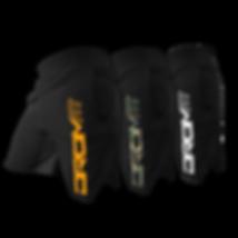 3 shorts overlord de couleurs différentes de la marque dromfit