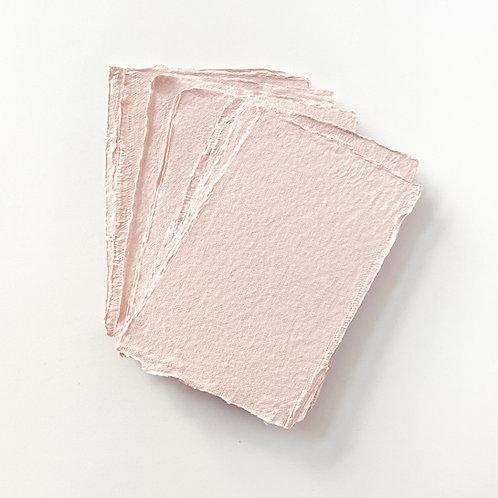 10x15cm 玫瑰粉紅水木紙     Pink Rose Somood paper