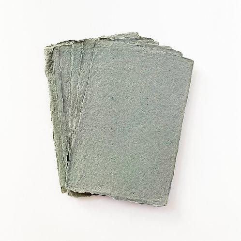 10x15cm 墨綠水木紙  |  Deep Green Somood paper