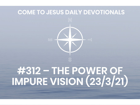 #312 – THE POWER OF IMPURE VISION (23/3/21)