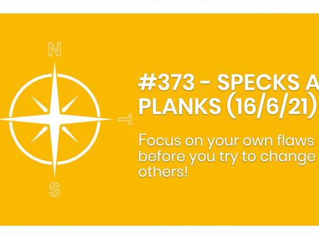 #373 - SPECKS AND PLANKS (16/6/21)