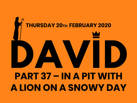 PART 37 – IN A PIT WITH A LION ON A SNOWY DAY (20/2/20)