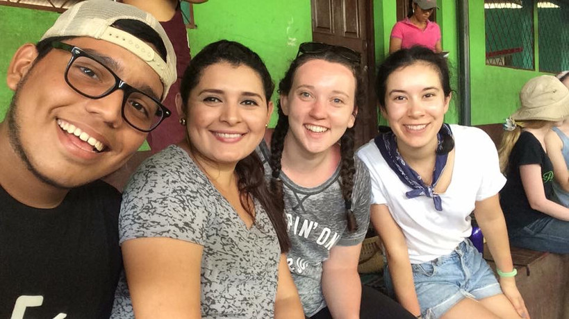 Taking a break during rehearsal with Teatro Catalina and SCU students!