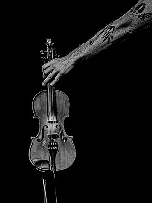 Matt Heckler Fiddle -Lustre Print
