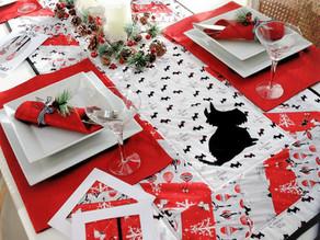 Scottie Dogs Christmas Table Runner