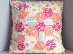 Hexagon Patchwork Cushion
