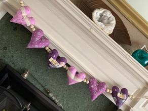 Lilac Heart Garland