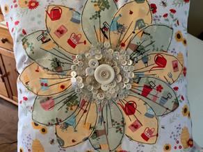 Button Flower Cushion