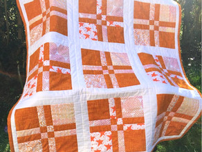 Turned Four Patch Quilt Tutorial