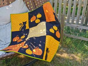 Patchwork Halloween Quilt