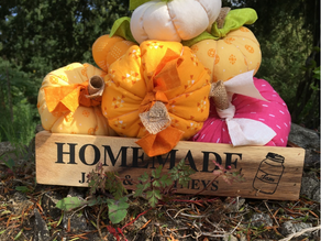 Fabric Stuffed Pumpkins Project