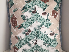 Patchwork Christmas Tree Cushion