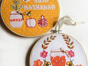 Rosh Hashanah Festive Hoops